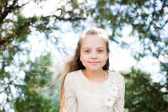 Portrait of a lovely little happy princess girl Royalty Free Stock Photos