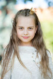 Portrait of a lovely little happy princess girl Stock Photography