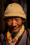 Portrait of a lovely man from Tibet Royalty Free Stock Photos