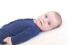 Portrait of lovely 2 months baby girl Royalty Free Stock Images