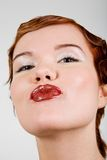 Portrait of lovely red-head young woman Royalty Free Stock Photography