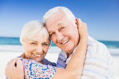 Portrait of lovely senior couple Stock Image
