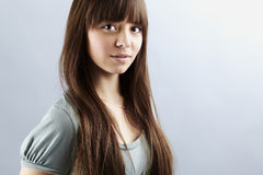 Portrait of lovely teenager girl Stock Images
