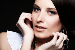 Portrait of lovely woman Royalty Free Stock Photo