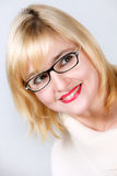 Portrait of lovely woman in glasses Royalty Free Stock Photos