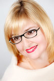 Portrait of lovely woman in glasses Stock Photo