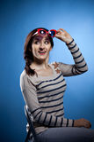 Portrait of the lovely woman in retro style Royalty Free Stock Images