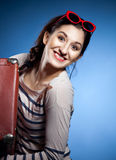 Portrait of the lovely woman in retro style Stock Image