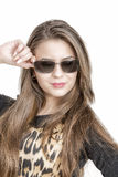 Portrait of lovely woman in sunglass Royalty Free Stock Photography