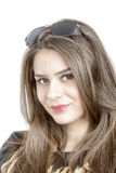 Portrait of lovely woman in sunglass Stock Photo