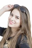 Portrait of lovely woman in sunglass Royalty Free Stock Photo