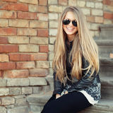 Portrait of lovely woman in sunglasses Royalty Free Stock Image