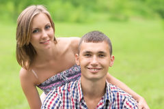 Portrait of a lovely young couple Stock Photo