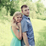 Portrait lovely young couple royalty free stock photo