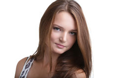 Portrait of lovely young woman with perfect skin Royalty Free Stock Photography