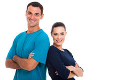 Couple arms crossed Royalty Free Stock Image
