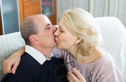 Portrait of loving elderly spouses Stock Photography