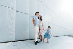 Portrait of loving family concept. Always happy together stock photography