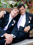 Portrait of Loving Gay Married Couple Stock Photography