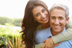 Portrait Of Loving Hispanic Couple In Countryside Royalty Free Stock Photos