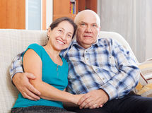Portrait of loving mature couple together Royalty Free Stock Photo