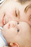 Portrait of loving mother and baby Stock Image