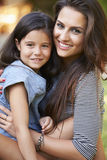 Portrait Of Loving Mother And Daughter In Garden Stock Photo