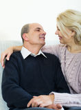 Portrait of loving senior spouses Royalty Free Stock Photos