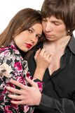 Portrait of a loving young couple Royalty Free Stock Images