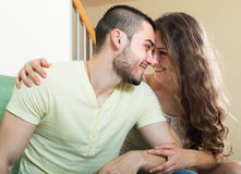 Portrait of loving young couple Stock Photo
