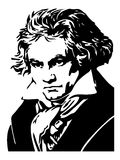 Portrait of Ludwig Van Beethoven Stock Image