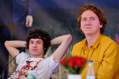 Portrait of Luke Pritchard and Hugh Harris, members of The Kooks Stock Photography