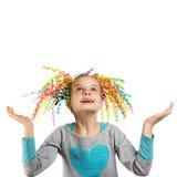 Portrait lumineux d'une petite fille heureuse photo libre de droits