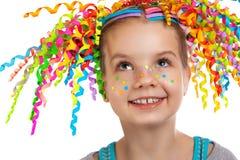 Portrait lumineux d'une petite fille heureuse photos libres de droits