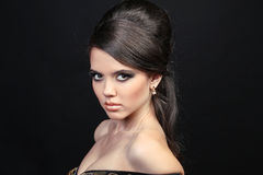 Portrait luxurious beautiful woman. Beauty. Royalty Free Stock Images