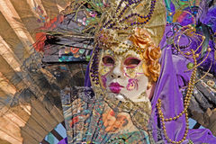 Portrait of luxury mask on Venice carnival Royalty Free Stock Photo
