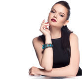 Portrait of luxury woman in exclusive jewelry stock images