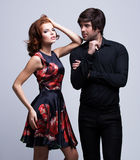 Portrait of luxury young couple in love Royalty Free Stock Photos