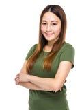 Portrait mélangé chinois indonésien de femme Photo stock