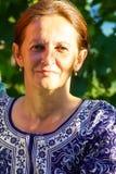 Portrait mûr de femme extérieur Image stock