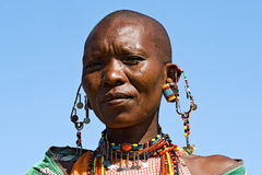 Portrait of a Maasai woman. Royalty Free Stock Photography