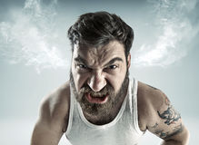 Portrait of a really mad man. Portrait of a really furious man Stock Images