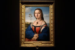 Portrait of Maddalena Doni by italian painter Rafael Santi. Royalty Free Stock Image