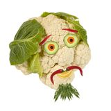 Portrait made of vegetables and fruits Royalty Free Stock Image
