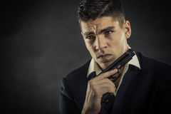 Portrait of mafia man Royalty Free Stock Photos