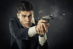 Portrait of mafia man Royalty Free Stock Photography