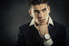 Portrait of mafia man Stock Photography