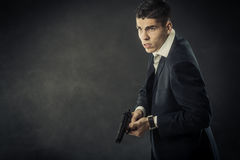 Portrait of mafia man Royalty Free Stock Photo