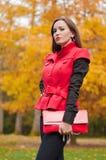 Portrait of magic girl in autumn Stock Images