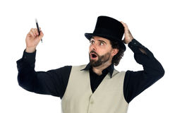 Portrait of a magician Stock Image